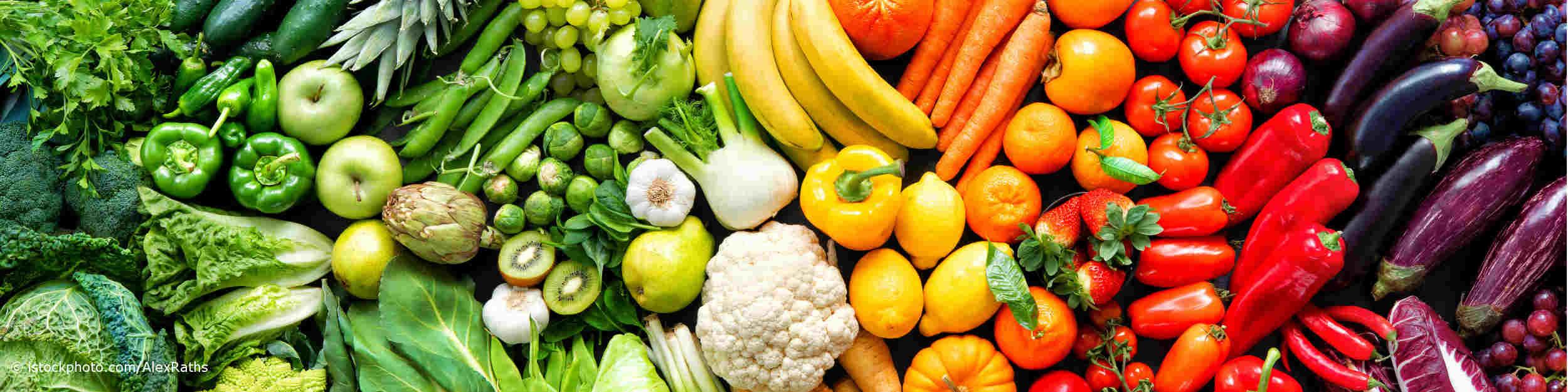 Frisches Obst und Gemüse enthält sekundäre Pflanzenstoffe.